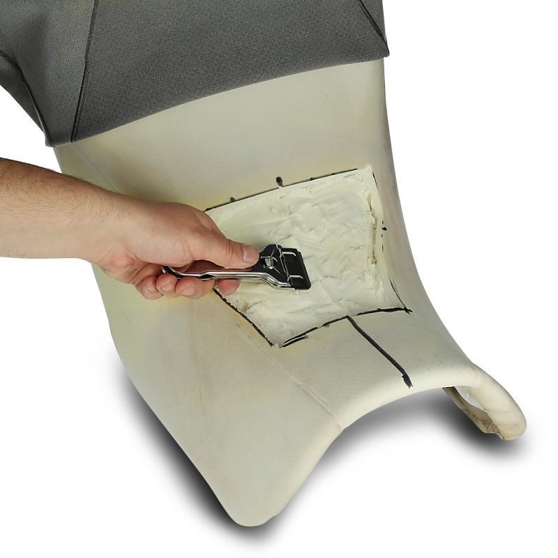 Gel insert for do-it-yourself installation into the motorcycle seat